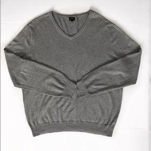 🛍J.Crew V neck pullover sweater gray man size XL